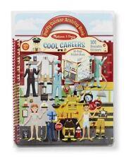 Melissa & Doug Cool Careers Puffy Sticker Books Children Play Activity Set
