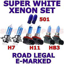 Apto para Volvo S60 2006-ON Set H7 H11 HB3 501 Halógeno Bombillas Xenon