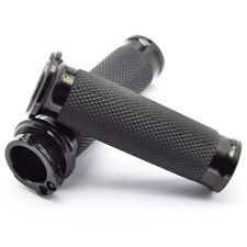 Black Handle Bar Hand grips For Harley Davidson Touring Sportster XL883 Dyna