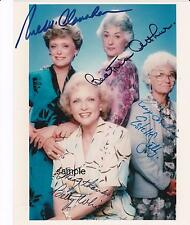 GOLDEN GIRLS CAST REPRINT 8X10 AUTOGRAPHED SIGNED PHOTO PICTURE BETTY WHITE RP