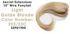 "Secret Extensions 10"" Wire Ponytail Color Light Golden Blonde  SEP01900"