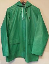 Hush Puppies Vintage Rain Jacket Coat Hooded Green Size Large