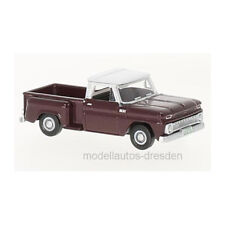 Oxford oxf87cp65003 CHEVROLET Stepside Pick-up rojo oscuro / Blanco 1:87