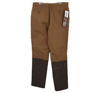 New Mens 36 Reg Cabela's Boar Hide Pants Unhemmed Brush Hunting Brown Canvas NWT