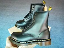 Black Hard Leather Dr.Martens 1460 Classic Real Airwair  Boots Unisex 11821006