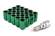 TUNER WHEEL NUTS STEEL GREEN M12 x 1.5 fits FORD ESCORT FIESTA FOCUS ST RS
