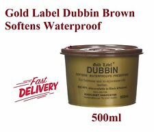 Gold Label Dubbin Brown 500g Waterproof Protection for Leather