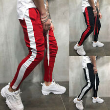 Fashion Mens Striped Sport Pants Gym Trousers Running Joggers Gym Sweatpants C88