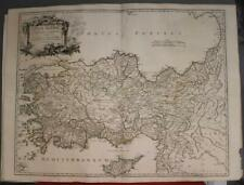 TURKEY & CYPRUS 1756 ROBERT DE VAUGONDY ANTIQUE ORIGINAL COPPER ENGRAVED MAP