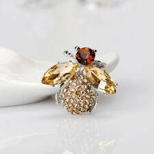 Creative Champagne Bee Insect Animal Shape Brooch Pin Fashion Jewelry Women Gift