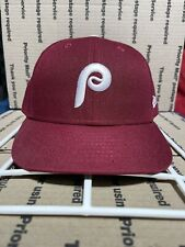 New Era Philadelphia Phillies Low Profile Fitted Hat - Size 8