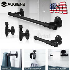 Retro Rustic Pipe Decor Bathware Fixture Set Diy 18In Towel Bar Rack Holder