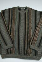 Vintage Megalos Mens Crewneck Sweater Size XLT Coogi Style Biggie Hip Hop cosby