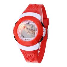 Kids Digital Red Wrist Watch Child Boy Girl Waterproof Sports Watch UK
