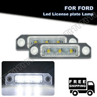 2x LED License Number Plate Light Lamp For Ford Flex Focus Mustang Fusion Taurus