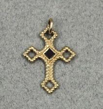 James Avery 14K Yellow Gold & Amethyst Cross Pendant Sold Individually