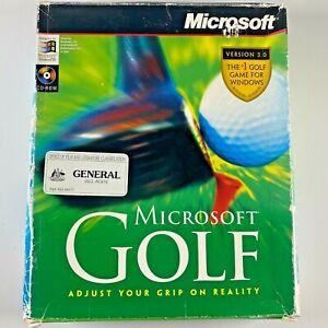 MICROSOFT GOLF Vintage 1996 PC game big Box Rare