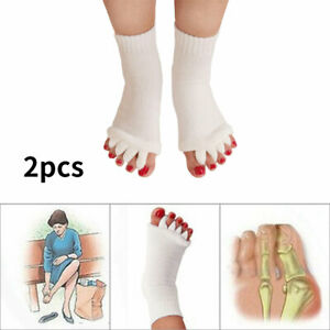 2 Pcs Five Finger Toe Socks Blister Protection Bunion Pain Relief Athletes Foot