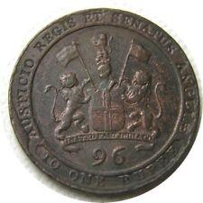 elf India British Madras Presidency 1/96 Rupee 1/2 Dub 1797 Lion