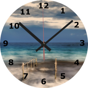 WALL CLOCK HARBOUR 25cm Port Sea Seaside Holiday Sailing Boat Home Decor 862