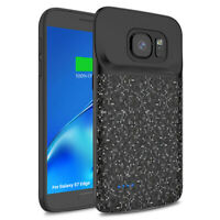 Exteral Power Bank Battery Backup Case Charger Cover For Samsung Galaxy S7 Edge