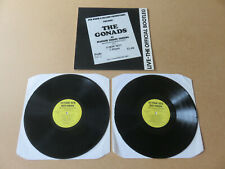 THE GONADS Live The Official Bootleg SYNDICATE 2x LP RARE 1984 PUNK Oi SYNDLP8