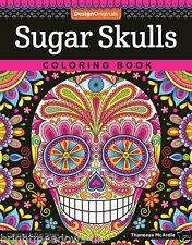 Sugar Skull Adult Colouring Book Gothic Tattoo Halloween Day Of the Dead Art