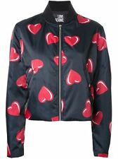 Love Moschino Heart Print Bomber Jacket Size:44/8 $460  NWT