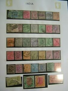 COLLECTION OF INDIAN STAMPS STAMPS RAJ BRITISH TERRITORIES VICTORIAN NO RESERVE