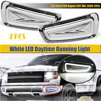 LED DRL w/ Turn Signal Daytime Fog Light Lamp For Ford F150 Raptor SVT 2009-15
