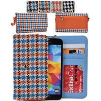 KroO ECMT14 Houndstooth Protective Wallet Case Clutch Cover for Smart-Phones