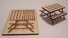 O Scale 1/48 Picnic Table Laser Cut Kit  set of 2