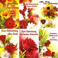 100 Glückwunschkarten zum Geburtstag Blumen 9770 Geburtstagskarte Grußkarte
