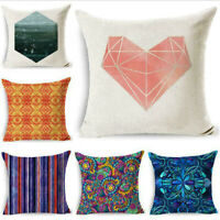 18inch Geometric Pillow Case Cotton Linen Throw Cushion Cover Home Decor New