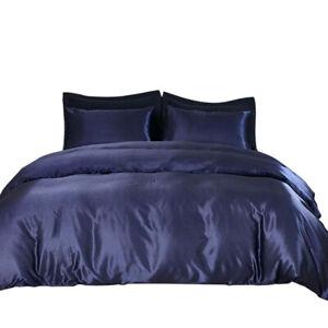 Satin Silk Duvet Cover Sets - Soft Silky Bedding Comforter Set New