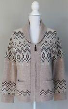 PENDLETON Alpaca & Wool Fair Isle Shawl Collar Cardigan Intarsia Sweater Large L