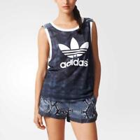 Adidas Originals LA Snake Print Tank Top Sizes S and M AB2624 Trefoil T-Shirt