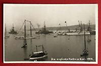 Kaiserliche Marine Foto AK 1. WK Die englische Flotte in Kiel  ( 66335