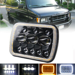 5x7'' 7x6'' LED Headlight Hi-Lo Combo Beam Halo DRL For Jeep Cherokee Dodge GMC