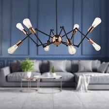Modern Sputnik Chandelier Pendant Light Fixture Black Ceiling Metal Gold Rose