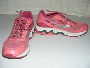 Mizuno Wave Inspire 12 Running Athletic Shoes Women Size 8.5 Pink Silver