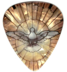 12 Pack Pearl Dove Picks Peace Positive Spiritual Love Happiness Guitar Pick