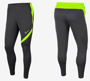 New Nike Men's football pants/ soccer pants/ NIKE DRY/grey/neon/zip pockets