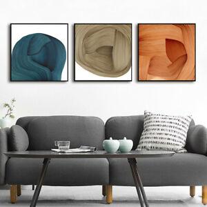 Orange Luxury Ribbon Texture Canvas Print Poster Picture Wall Art Decoration