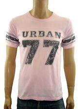 urban 77 tshirt uomo rosa manica corta cotone taglia s small