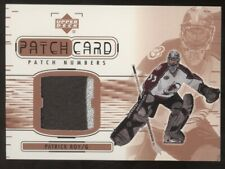 2001-02 Upper Deck UD Series II Patrick Roy Patch Numbers Patch Card