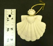 "Vintage Margaret Furlong 3"" Sea Shell Angel Heart, 1986 Ornament"
