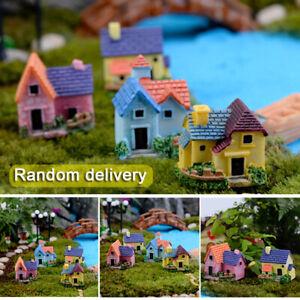 Resin Mini Fairy Garden Miniature House Cottage Micro Landscape Ornament Decor