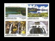 Stamp,Korean Mountain Series,Mt.Baekdu,Volcano,ROK 2007