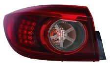 New Driver Side LED Smoke Outer Tail Light FOR 2014 2015 Mazda 3